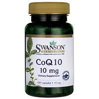 Коэнзим Q10, Swanson Premium CoQ10, 10 мг 100 капсул