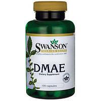ДМАЭ диметилэтанол, Dmae, 130 мг 100 капсул, Swanson