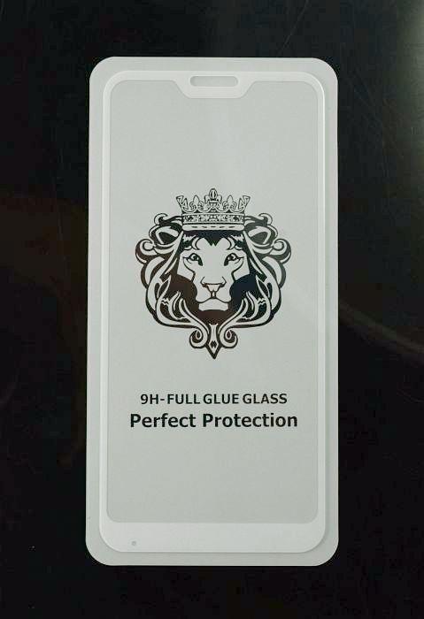 Скло захисне для телефону Xiaomi Mi A2 Lite / Redmi 6 PRO біле, Full Glue, 5D
