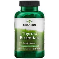 Комплекс вітамінів для щитовидної залози, Thyroid Essentials, Swanson, 90 капсул, фото 1
