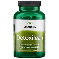 Детокс Комплекс для очищения организма, 120 желатиновых капсул, Detoxilean Swanson
