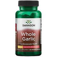 Чеснок против паразитов, Whole Garlic, Swanson, 700 мг, 60 капсул