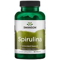 Спирулина, 500 мг, 180 таблеток, Spirulina, Swanson