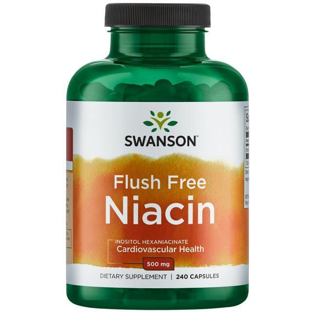 Витамин В3 Ниацин, Niacin, Swanson, 500 мг, 240 капсул