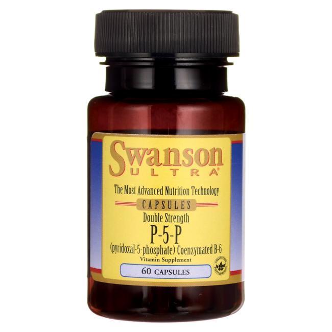 Пиридоксаль Фосфат P-5-P Кофермент Витамина в-6, Swanson, 40 мг 60 капсул