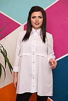 Батальна блуза на гудзики видовжена ззаду.Р-ри 50-56