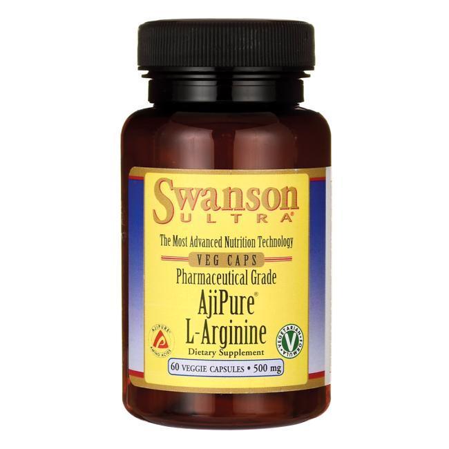 Аргинин для улучшения кровообращения, L-arginine, Swanson Ult, 500 мг, 100 капсул