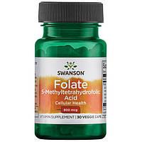Фолат, фолиевая кислота, Swanson, 800 мкг, 30 капсул
