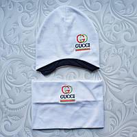 Детский весенний набор,шапка и снуд Gucci, фото 1