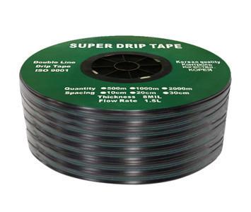 Капельная лента щелевая Super Drip Tape 30см (бухта 1000 м) Корея
