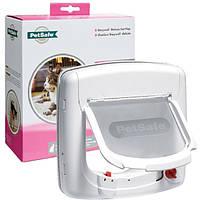 Дверцы PetSafe Staywell 500 с программным ключом  для котов весом до 7 кг, 252*241 мм, белый