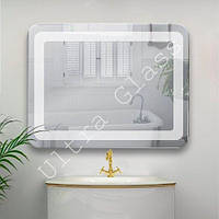 LED зеркало. Зеркало классичское с заокругленными краями  в ванную с LED подсветкой.