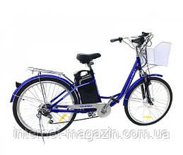 """KelbbikeЭлектровелосипед дорожный Kelbbike 26"""" с трансмиссией Shimano"""
