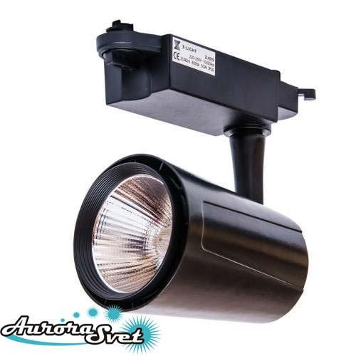 Светодиодный трековый светильник, 30W, 6500К LED. Трековый LED светильник.