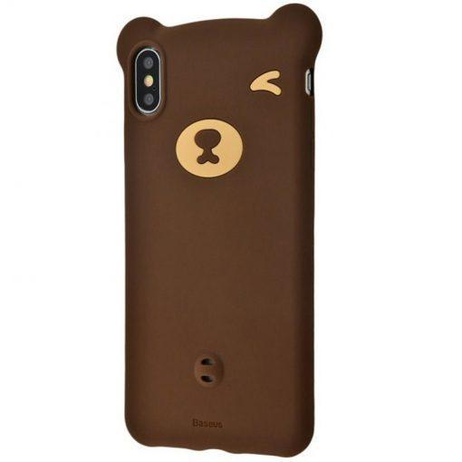 Чехол силиконовый Foxcon Bear Silicone Case для iPhone X/XS Brown (57882)