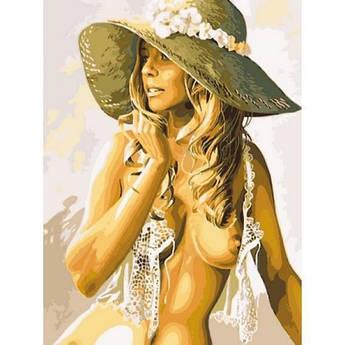 Картина по номерам Девушка в соломенной шляпке, 30x40 см Babylon
