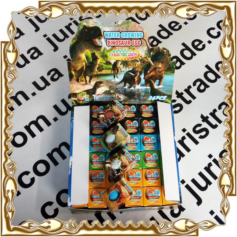 Яйцо динозавра выростайка+ стрел. карамель 2 гр. Water Growing Dinosaur Egg 36 шт./уп.