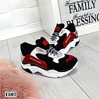 Модные кроссовки из натуральной кожи и замша 36 р, фото 1
