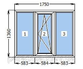 Трехстворчатое окно Windom Deluxe