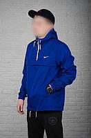 Анорак ветровка Nike, мужской синий весенний, фото 1