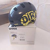 №55. Велошлем UVEX Kid 3 51-55cm  Grey lime, фото 1