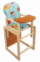 """Деревянный стульчик для кормления """"Наталка"""". Материал: дерево. Для детей с 6 месяцев."""
