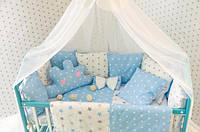 Комплект в кроватку Облако с балдахином