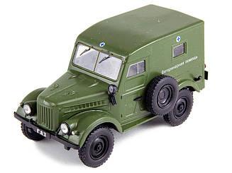 Модель Автолегенды (DeAgostini)ГАЗ-69 Ветеринарная помощь (1:43)