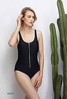 Слитный женский купальник с нерегулируемыми брителями Atlantic beach 69935  черный dc65146284dfd