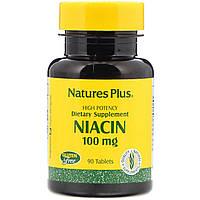 Ниацин, Nature's Plus, Niacin, 100 мг, 90 таблеток