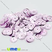 Пайетки Китай круглые граненые, 10 мм, Сиреневые, 5 г (PAI-031978)