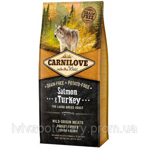 CARNILOVE Salmon & Turkey Adult Large Breed 12 kg