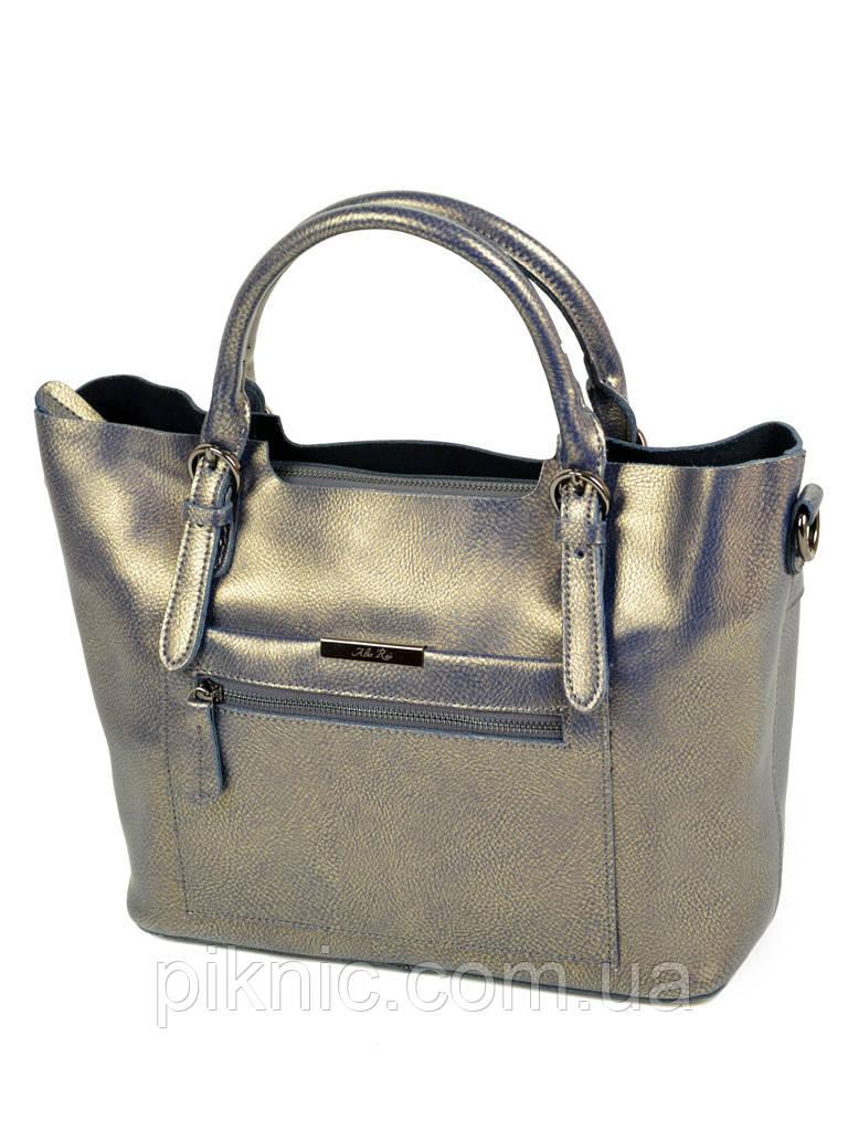 9317b58a168f Большая женская сумка кожаная классическая. Натуральная кожа 33*25*13см.  Серебро -