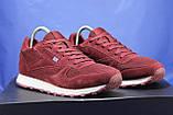 Бордові чоловічі кросівки в стилі Reebok Classic, фото 2