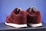 Бордові чоловічі кросівки в стилі Reebok Classic, фото 3