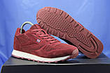 Бордові чоловічі кросівки в стилі Reebok Classic, фото 5