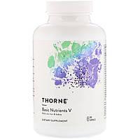 Мультивитамины без железа, Thorne Research,  Basic Nutrients V, 180 капсул