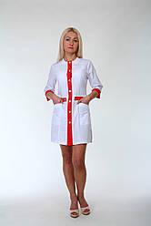 Медицинский женский халат без воротника до 60 размера