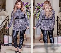 Жіноча блузка з леопардовим принтом, з 42-64 розмір, фото 1