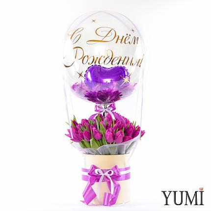 Композиция с тюльпанами на День Рождения, фото 2