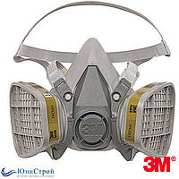 Респиратор полумаска комплект 3М 6200 угольный фильтр 6051