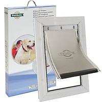 Дверцята PetSafe Staywell 660 посиленої конструкції, для собак гігантських порід вагою до 100 кг, 692.6*417 мм, білий