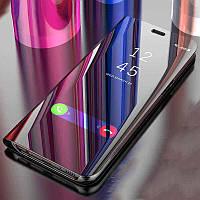 Зеркальный чехол-книжка CLEAR VIEW с функцией подставки для Samsung J8 2018 (J810)