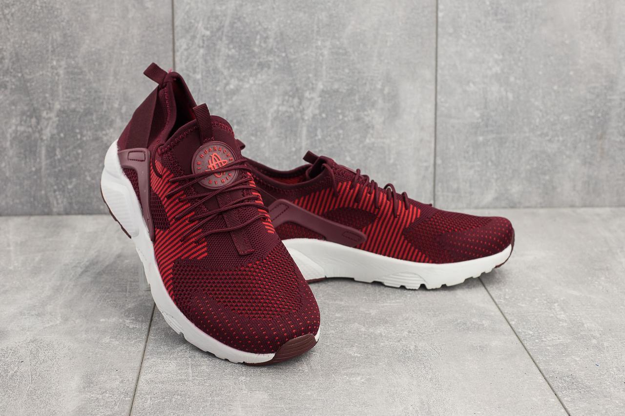 Кроссовки A 023-1 (Nike Huarache) (весна-осень, мужские, текстиль, бордовый)
