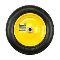Колесо литое BudMonster 3.5х8, d=20 (желтое), d=35.5 см, (01-043)