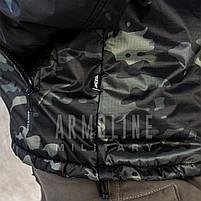"""Анорак - ветровка """"TRAVEL DEFENCE"""" (Black Multicam) НА ФЛИСЕ, фото 6"""