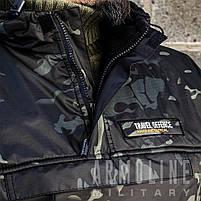 """Анорак - ветровка """"TRAVEL DEFENCE"""" (Black Multicam) НА ФЛИСЕ, фото 8"""