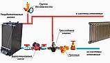 Шахтный котел Холмова длительного горения 8 кВт с увел. бункером, фото 5