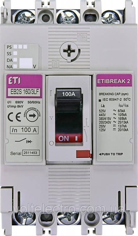 Автоматичний вимикач EB2S 160/3LF 100A 3p