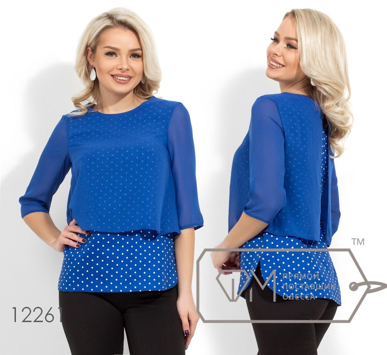Блузка рубашка с длинным рукавом  р.42-54